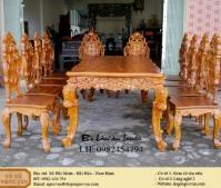 Bộ bàn ăn louis